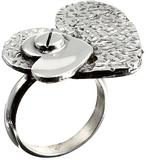 Seriously Silver Handgjort hjärta Silver Ring Ster
