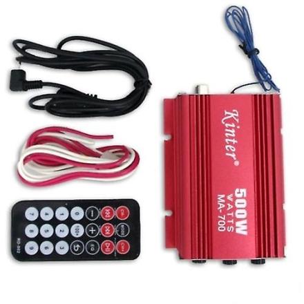 500W RMS bil motorsykkel 2 Channel høyttaler Amp forsterker USB MP3 FM