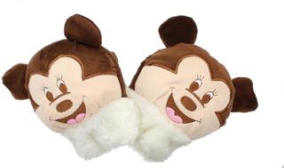 Childrens nyhet brun musen myk ullen dyr vanter