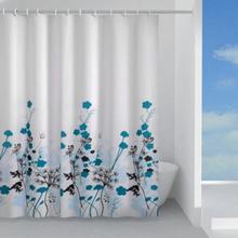 Hefe duschdraperi 120 x 200 cm, blå blomst