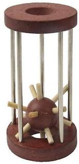 Trä leksak skill lärande leksaker barn bollen bur prison break