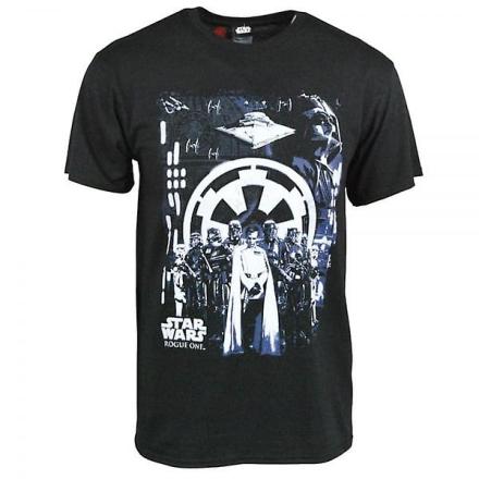 Star Wars Herre Star Wars Rogue en Imperial T Shirt sort Small - Ch... - Fruugo