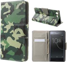 Sony Xperia Xz Premium Mønster PU Lær Flip Etui - Kamuflasjeuflage
