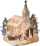 Julby kyrka fiberoptikby 24cm