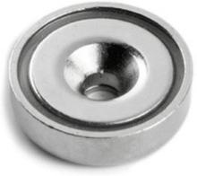 Undersænket pottemagnet, Ø40 mm.