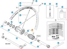 Shimano WH-MT66 Frihjulsbody 10S, WHMT66,WHMT68