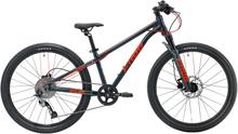 """Frog Bikes MTB 62 - 24"""" Barnesykkel Sort/Rød, 8-10 år, 9 gir, 11 kg"""