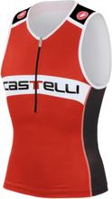Castelli Core Tri Top Singlet Rød