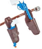Cowboypistoler i plast med hölster One-size