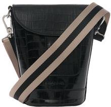 Croco Leather Black Bottle Bag