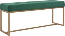 vidaXL Bänk 120 cm grön sammet