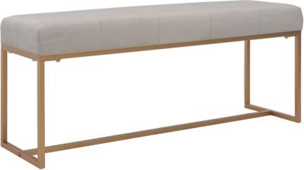 vidaXL Bänk 120 cm grå sammet