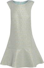56893e386309 Love2Dress Mint Jacquard klänning med Peplum fåll UK storlek 10 Cream