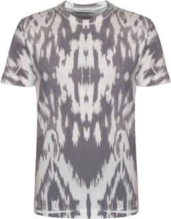Pierre Balmain Balmain hvid & grå mønstret T-Shirt