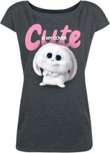 Pets - 2 - Snowball - Cute Is My Cover -T-skjorte - mørkegrå melert