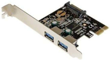 2 Port PCI Express USB 3.0 Controller Card w/ SATA Power