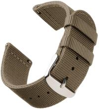 Bofink® Nordic Nylon stropp for TicWatch C2 Onyx - Khaki