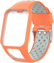 TomTom Runner 2 / 3 / Multi-Sport dual color silicone watch band - Orange / Grey