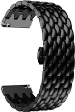 Samsung Galaxy Watch 46mm / Gear S3 Frontier / S3 Classic 22mm alloy watch band - Black