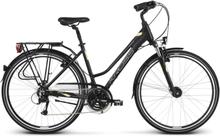 Kross Trans 4.0 Dam Hybridcykel Svart/Krem, 21 växlar, Turcykel, 17,2 kg