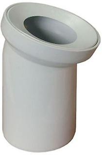 Vit WC toalett avloppsvatten Pan Connector jord rör 110mm armbåge