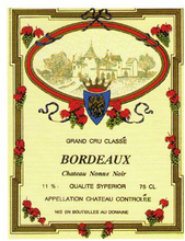 Lyxvinetikett. Bordeaux