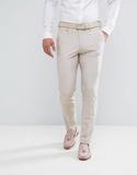 ASOS Wedding Skinny Suit Trouser in Crosshatch Nep