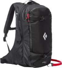 Black Diamond JetForce Pro Split Pack 25l, black M-L 2020 Lavinerygsække