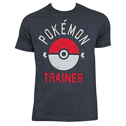 Pokemon Heather grå træner Tee Shirt - Fruugo