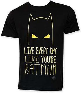 Batman Live varje dag som Batman Tee Shirt Svart Small