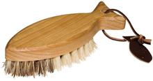 Fiskformad Grönsaksborste i trä med naturborst