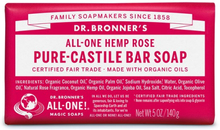 Organic Pure-Castile Bar Soap, 140 g, Rose