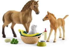 Häst, föl och hund (Schleich Horse Club)