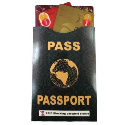 Passficka med RFID-skydd, Svart