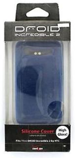 HTC silikonhölje för HTC Droid Incredible 2 - blå rutig