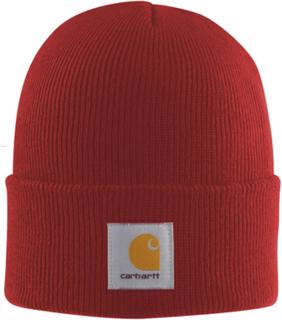 Carhartt akryl se Cap - chili ikoniske Carhartt mørk rød ur lue