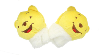 Childrens nyhet gule Bear myk ullen dyr vanter