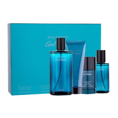 Davidoff Cool Water EDT & Shower Gel & Deostick 125 ml + 40 ml + 2 x 75 ml