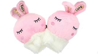 Childrens nyhet rosa kanin myk ullen dyr vanter