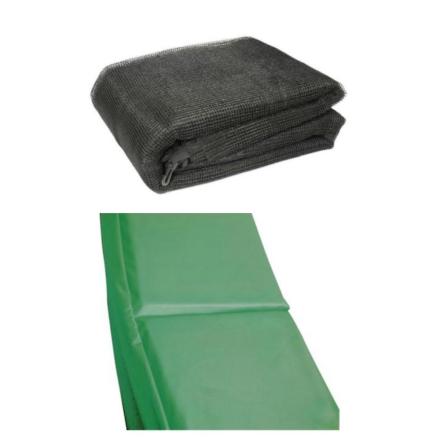 10 ft trampolin Accessory pack - grøn Pad og Netting