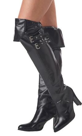 Pirat betjentes heks sort Deluxe kostume Boot Covers - Fruugo