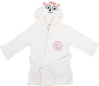 Universal är den hemliga liv husdjur barn Hooded vit Fleece morgonrock