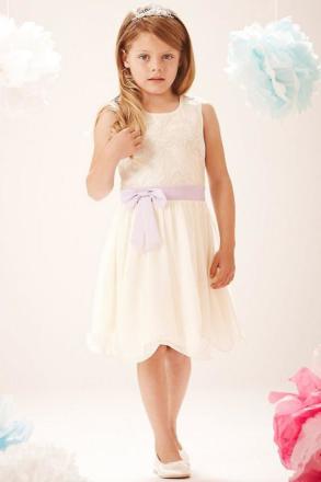 Lilla MisDress PU paljett Bow främre klänning