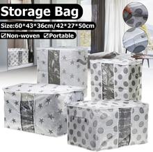 Vlies Space Saver Kleidung Quilt Decke Aufbewahrungstasche Organizer Tragbar