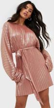 Adoore Sleeve Statement Dress Metallic