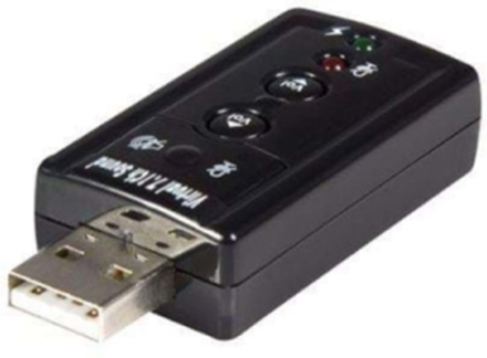 Virtuella 7,1 USB Stereo Audio Adapter externt ljudkort