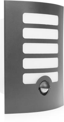 SMARTWARES LED-vägglampa med sensor 7W grå GWI-172