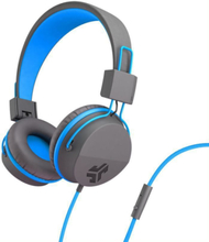 JLab Audio JBuddies Studio Kids, blue On ear kids headphone Kids safe on-ear headphones with an 85db volume limiter