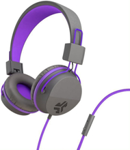 JLab Audio JBuddies Studio Kids, purple On ear kids headphone Kids safe on-ear headphones with an 85db volume limiter