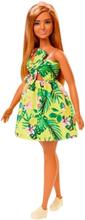Barbie Fashionistas Curvy Docka med Blommig Klänning